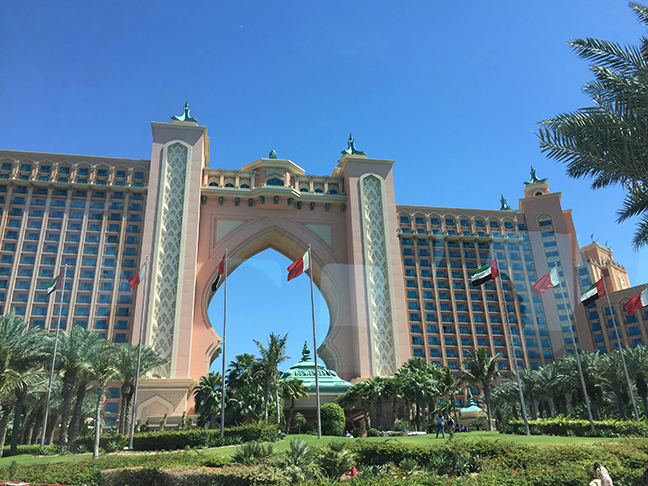 Atlantis Resort at Palm Island, Dubai (©Deborah Clague, 2016).