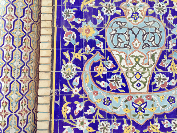 Detail of Iranian Mosque, Bur Dubai (©Deborah Clague, 2016)