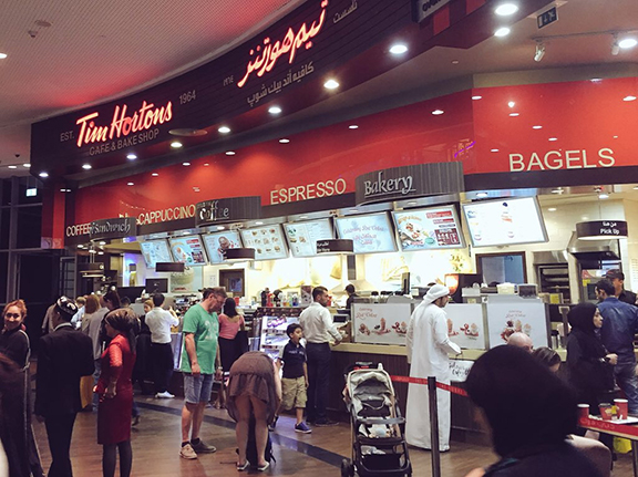 Tim Hortons in Dubai Mall (©Deborah Clague, 2016)