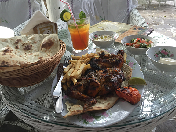 Arabic chicken dinner at the Arabian Tea House (©Deborah Clague, 2016)