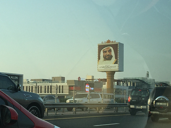 Billboards of Emirati leaders line the streets and highways (©Deborah Clague, 2016)