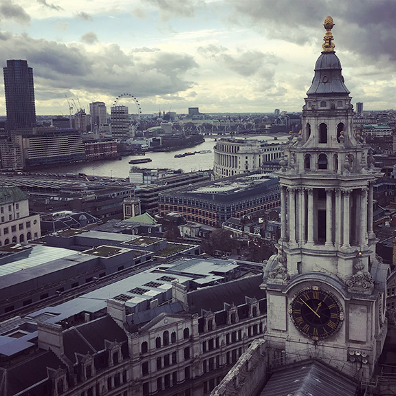 View from atop the Golden Gallery, St. Paul's Cathedral (©Deborah Clague)
