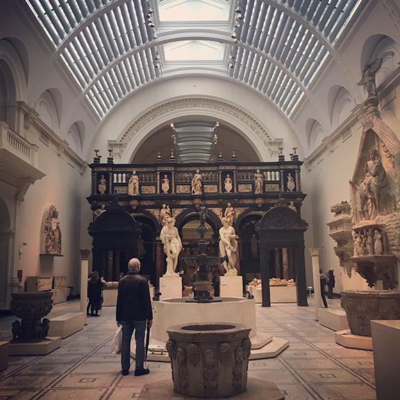 The Renaissance Gallery at the Victoria and Albert Museum, London (©Deborah Clague)