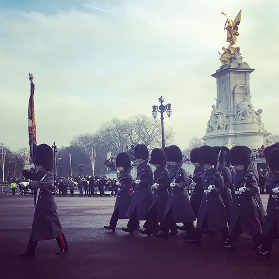 Changing of the Guard ceremony, Buckingham Palace, London (©Deborah Clague)