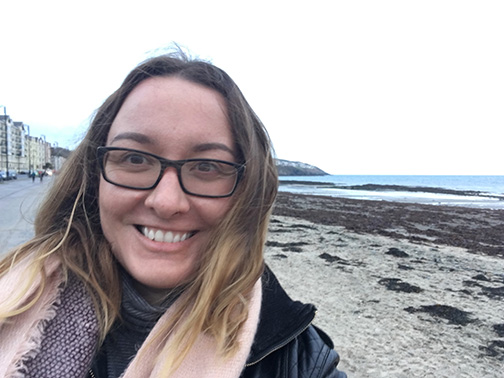 Selfie at Douglas Bay, Isle of Man (©Deborah Clague)