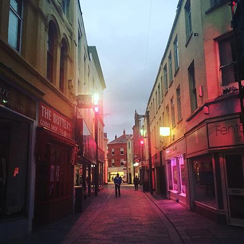 Streets of Douglas at dusk, Isle of Man (©Deborah Clague)