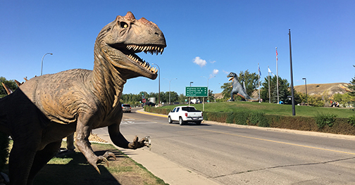 What kid –  and kid at heart  – wouldn't love visiting a town with giant dinosaur statues near every intersection? I love it!