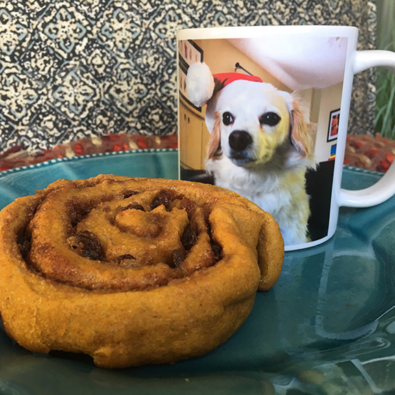 Guests at my house have a four in ten chance of sipping out of a mug with my dog's face on it.