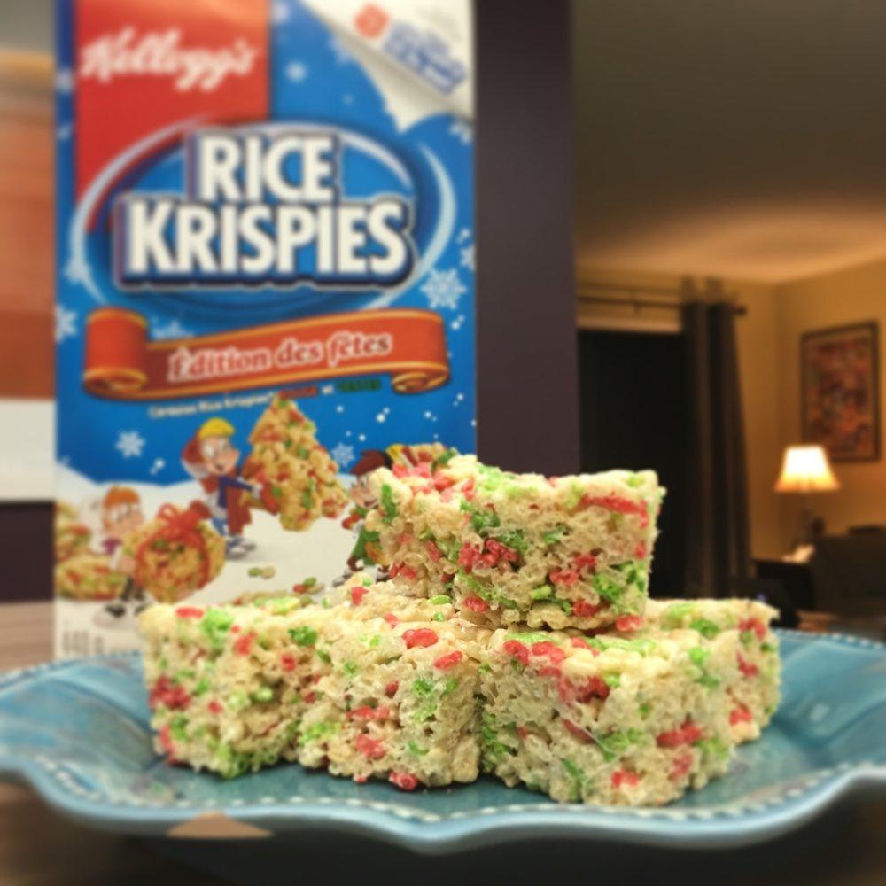 Childhood favourite, the classic Rice Krispie Square (©Deborah Clague)
