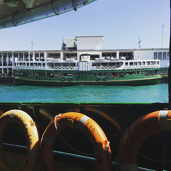 All aboard the Star Ferry (©Deborah Clague, 2018).