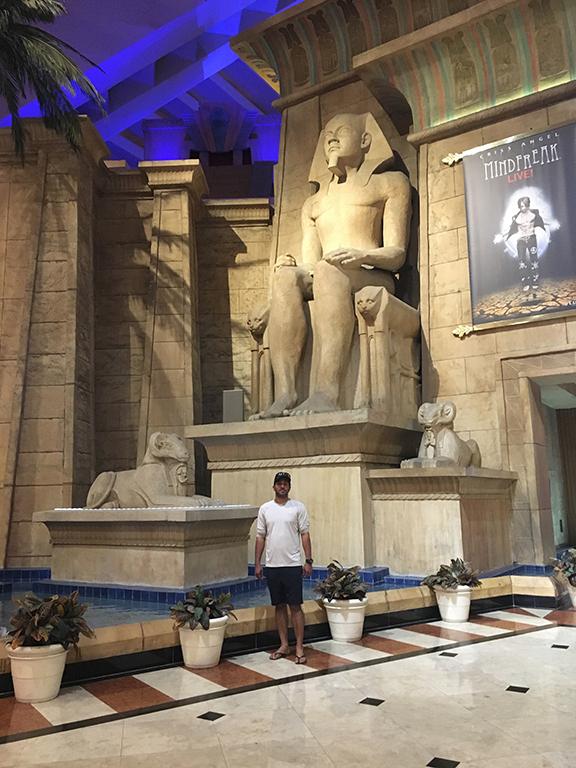 Atrium of Luxor hotel, Las Vegas (©Deborah Clague, 2018).