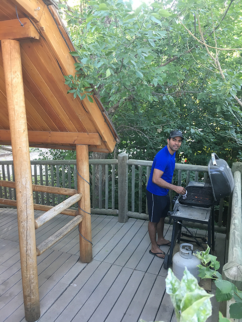 Firing up the grill, Great Falls, Montana (©Deborah Clague, 2018).