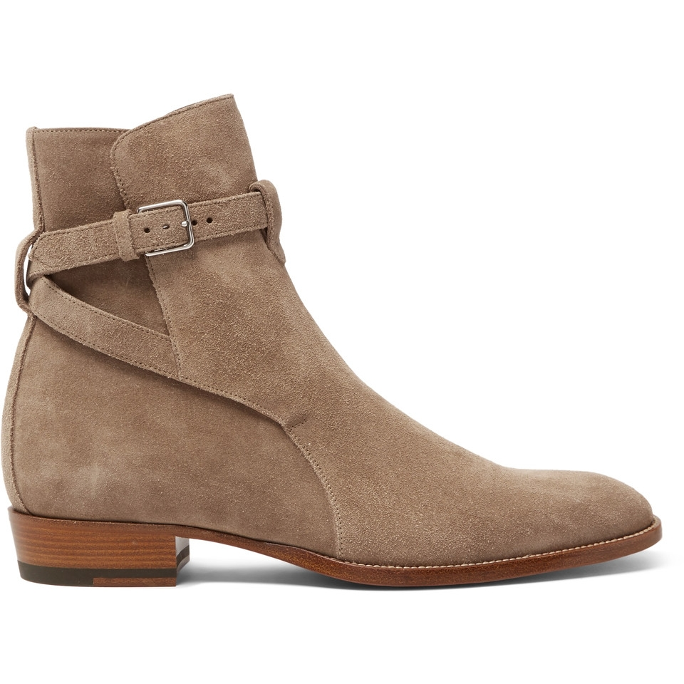 Saint Laurent - Julian Suede Jodhpur Boot