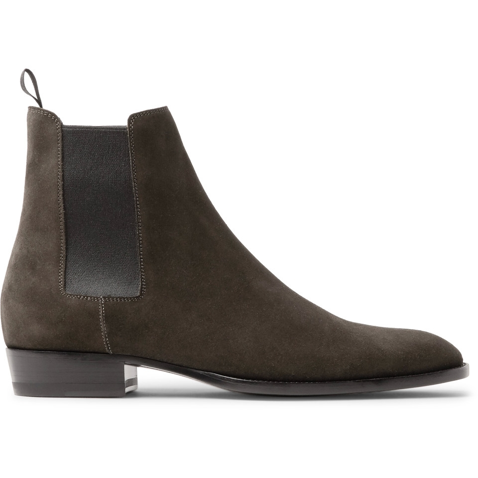 Saint Laurent - Wyatt Suede Chelsea Boot