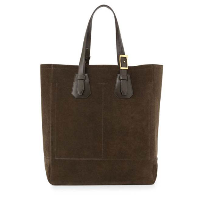 Tom Ford - Suede Tote Bag, Olive