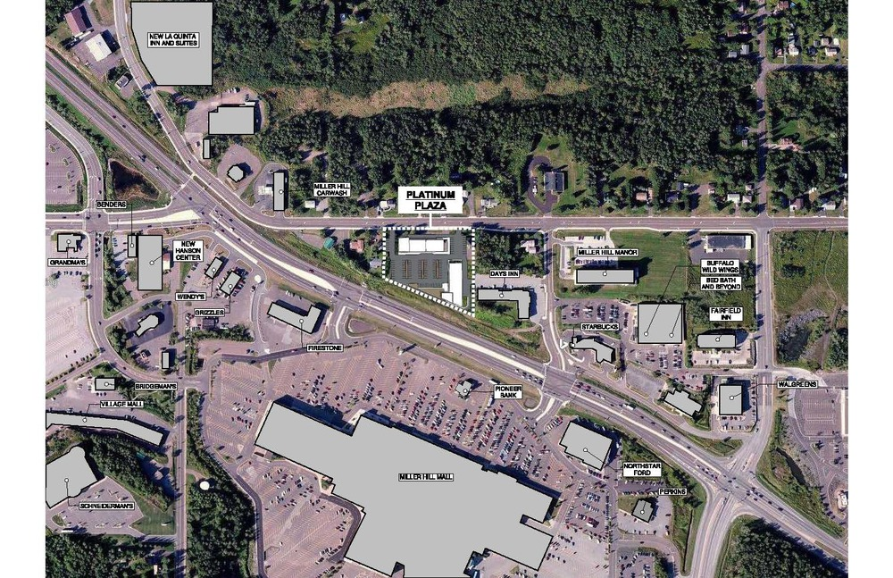 Location of the new Platinum Plaza development in the Miller Hill Mall area. Image provided by Platinum Properties.