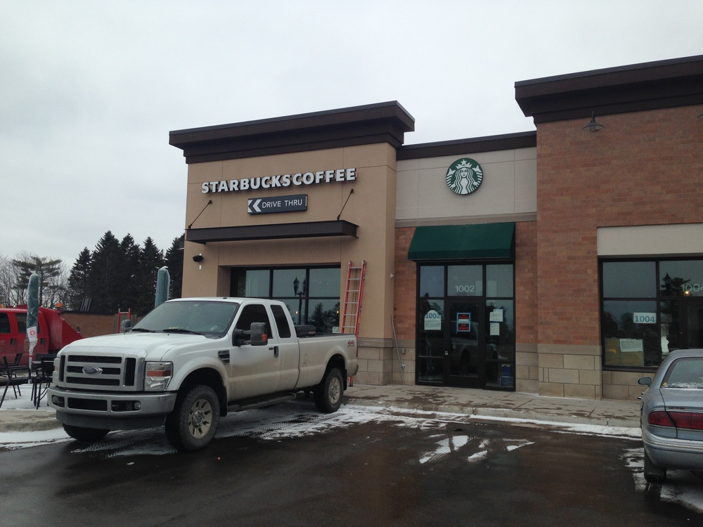 New Starbucks location at 1002 Woodland Avenue in Duluth, MN