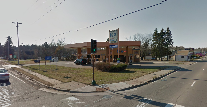The site as it currently looks. The ICO Gas Station recently closed. (Image provided by Google Earth)