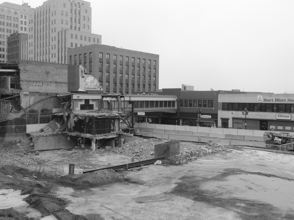 Construction at the site of the future maurices Headquarters. (Image property of CDINDULUTH)