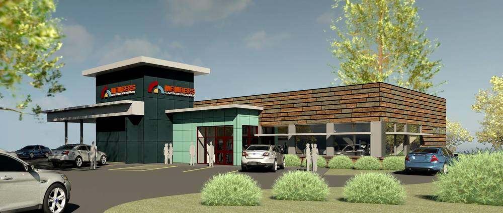 Rendering of the new MCCU Branch   Image property of MCCU and DSGW Architects