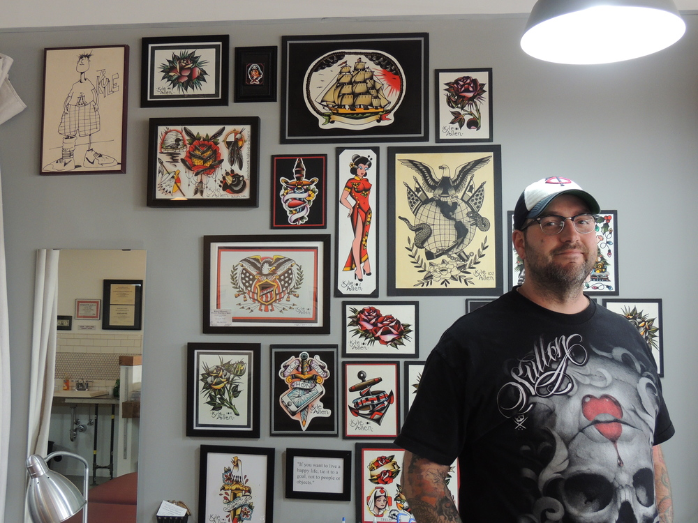 Kyle Grover, owner and lead tattoo artist of Benchmark Tattoo and Art Gallery in Duluth.