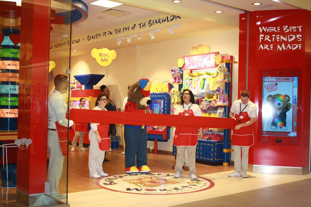 "Above: Recent Build A Bear Workshop opening. Check out ""Any Tots"" review here (with pictures)."