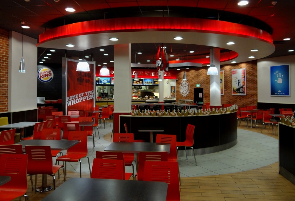 Above: Interior of the new Burger King prototype