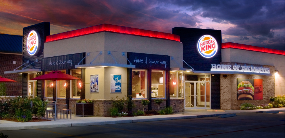 Above:  Burger King's new exterior prototype. Elements of this design will be featured in the Hermantown location.