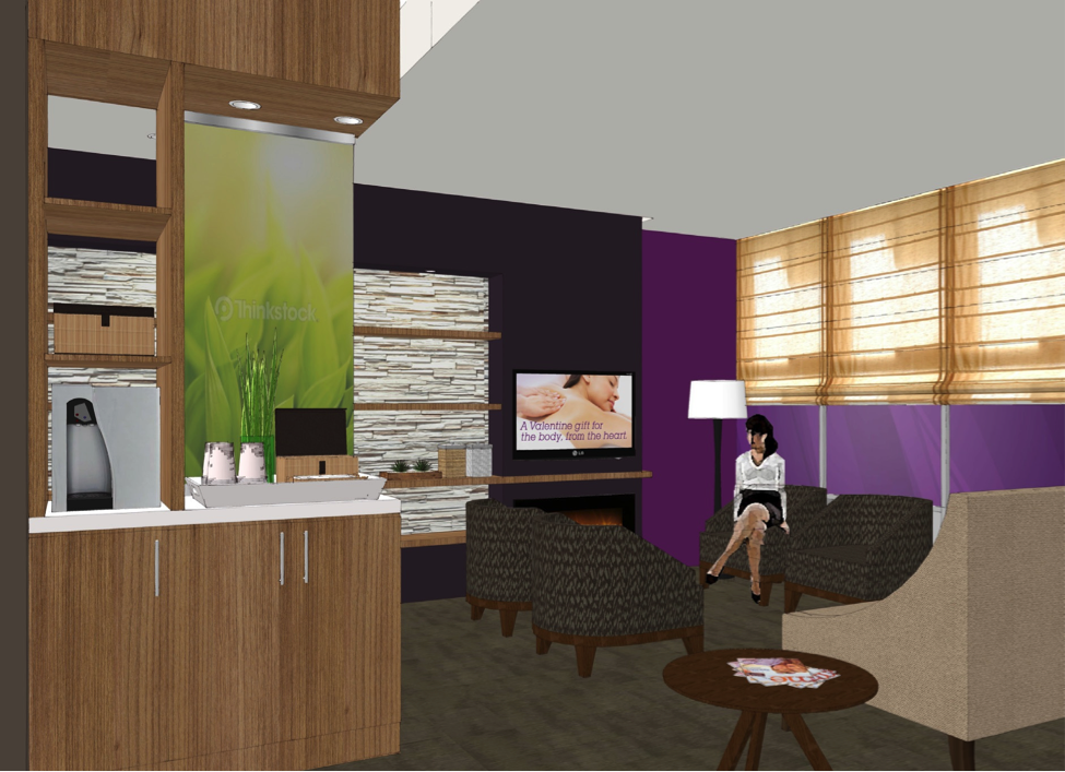 Above: Renderings of the new Massage Envy location in Duluth.