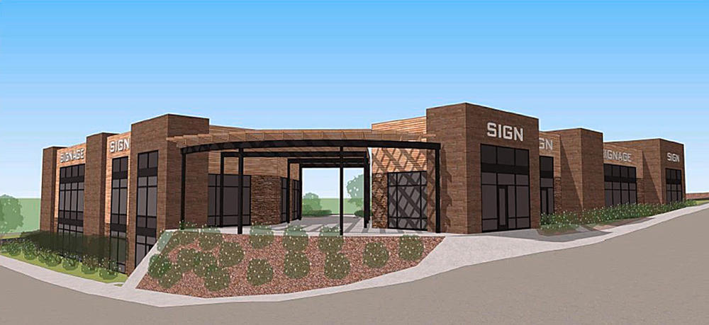 Retail center planned for the corner of Kenwood Avenue and Arrowhead Road.   (Image provided by Lotus Realty)