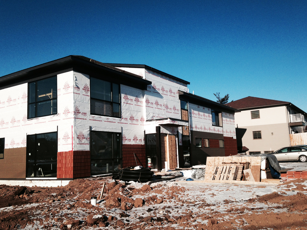 Construction of Twin Ports Dermatology takes shape on Woodland Avenue.   (Image provided by Twin Ports Dermatology)