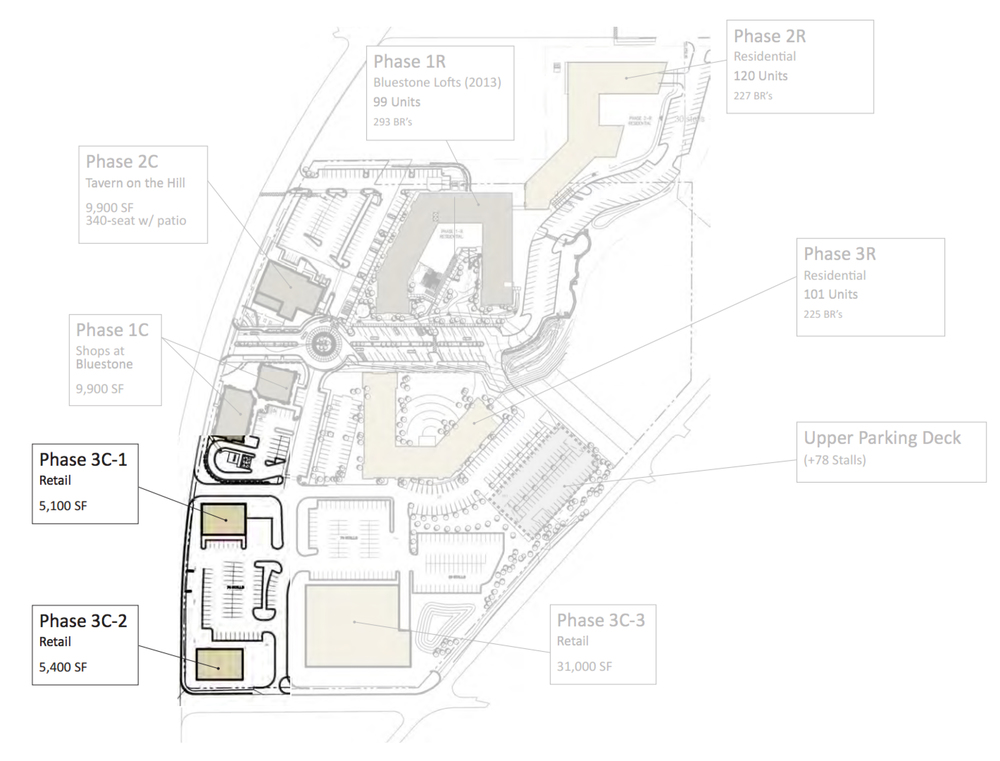 Above: Phase three of the project currently be developed. (Image provided by the Shops at Bluestone)