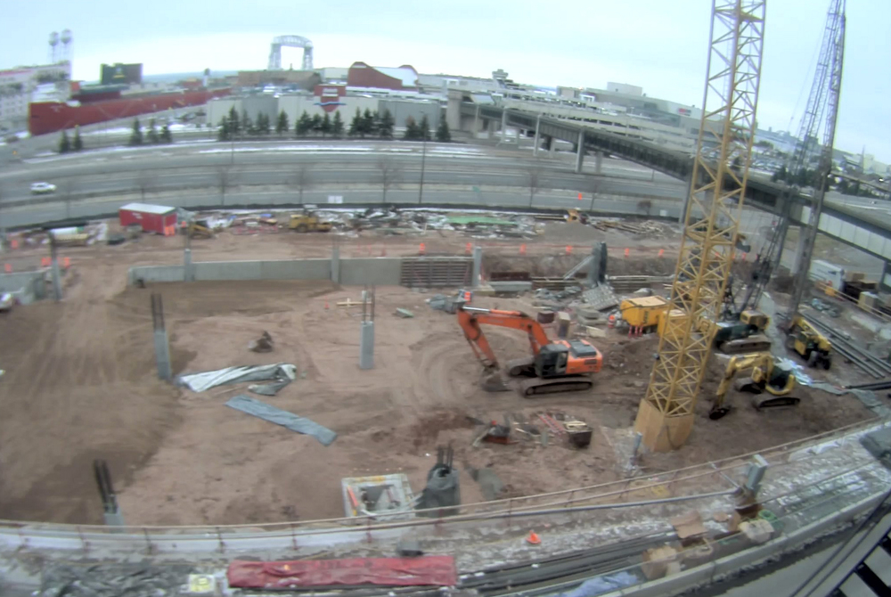 Above:  It may not be the clearest construction photo... but it does justice.  (Image provided by Duluth Transit).