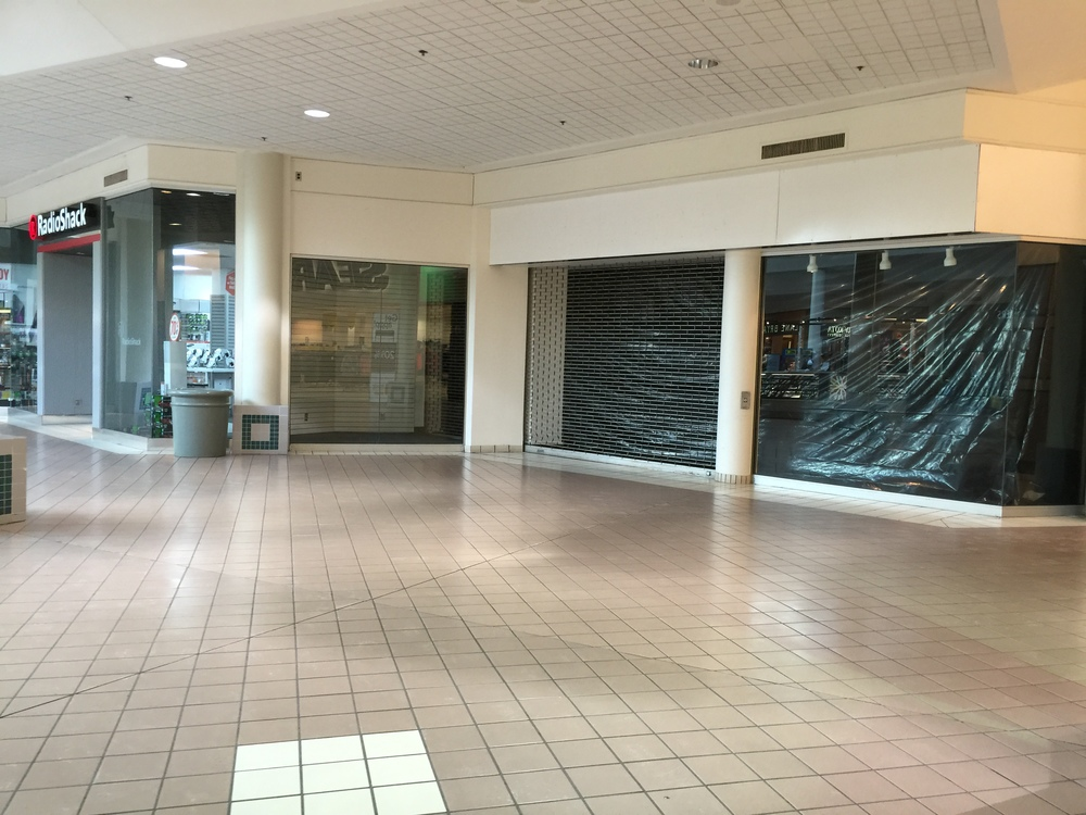 Radio Shack and the retail space next door will be combined for a new Rue21 location to open this spring