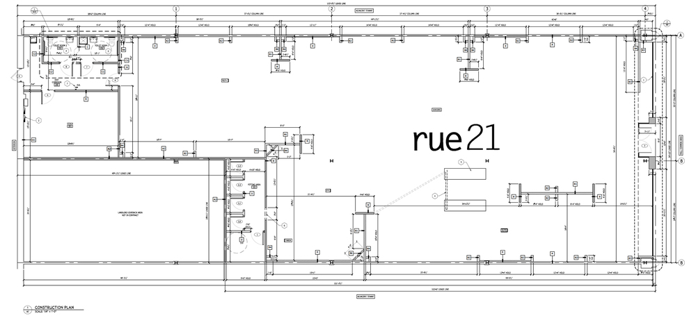 Above: Floor plan for the new Rue21 store location at the Miller Hill Mall.