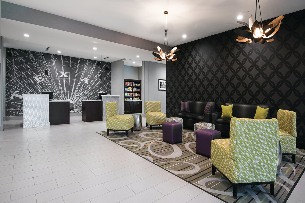 Above:  La Quinta Inn and Suites in Fort Worth, Texas features a similar interior design to what will debut in Duluth  (La Quinta)