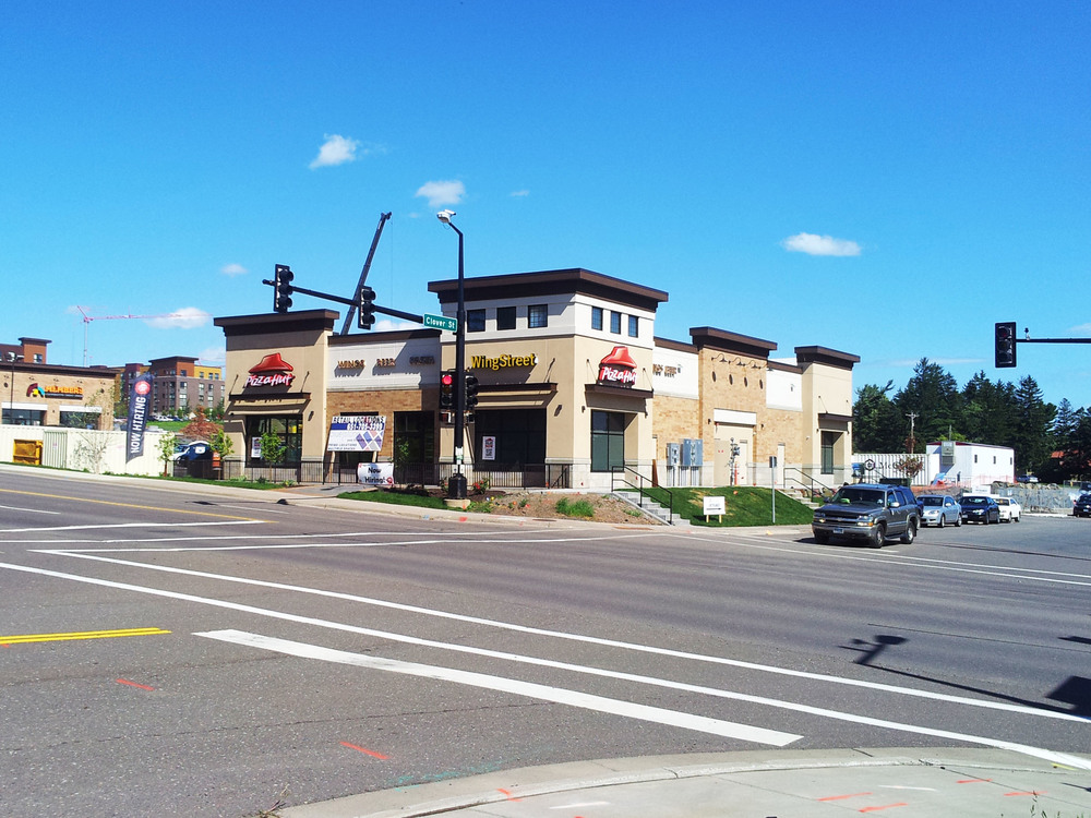 The new Pizza Hut | WingStreet store location at the Shops at BlueStone on Woodland Avenue
