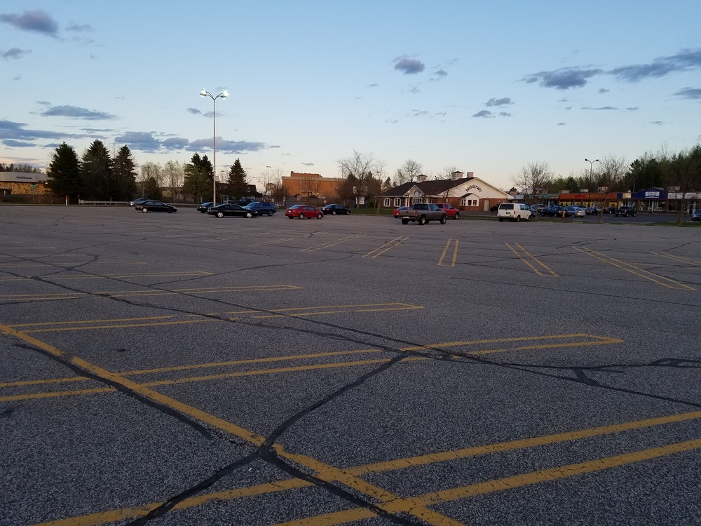 Current parking lot where the new Aldi location will be construction |  CDINDULUTH