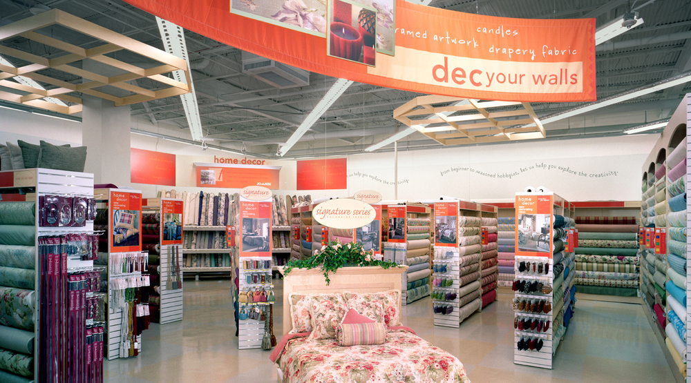 Interior of a typical Jo-Ann Fabrics location |   AUE