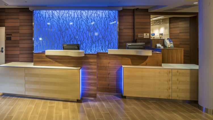 FRONT DESK OF NEW HOTEL DESIGN  |  FAIRFIELD INN BY MARRIOTT