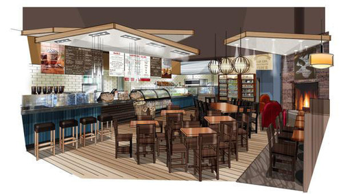Inspiration for new Caribou Coffee interior design /// PR Newsire