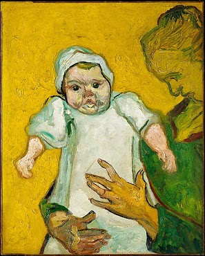 Vincent van Gogh's  Madame Roulin and Her Baby