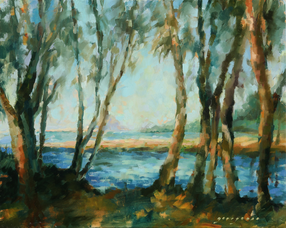 """Sweet Springs, Los Osos, 16""""x20,"""" Oil on Panel, SOLD"""