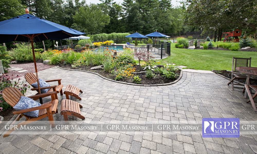 Background Oasis Stone Patio In Amherst, NH