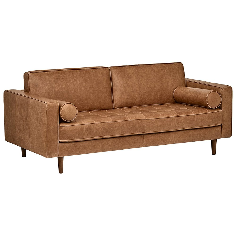 Tufted Leather Sofa -