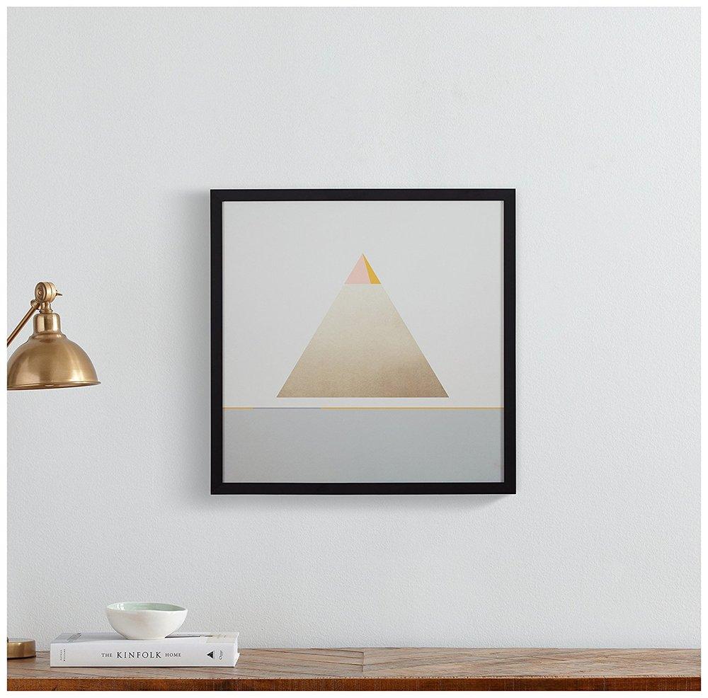 Gold Pyramid Print -