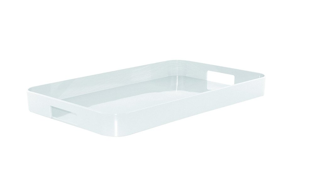 Bright White Melamine Tray -