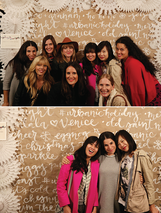 A giant painted photo backdrop for Urbanic's Holiday Bash. {see the blog post} Photos via urbanicpaper.com