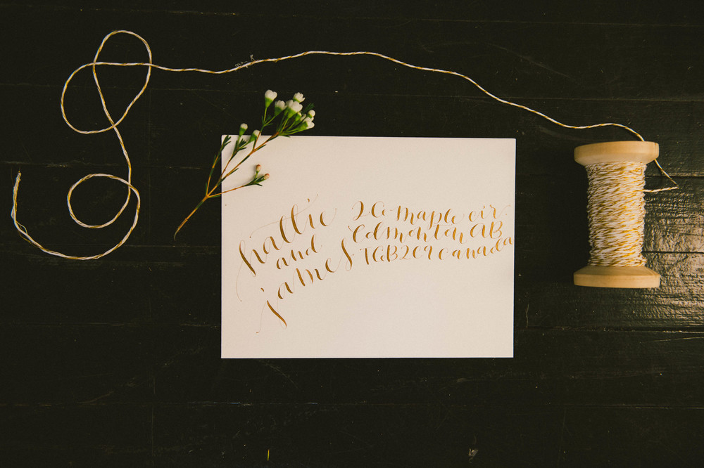 Gold Ink on Ivory