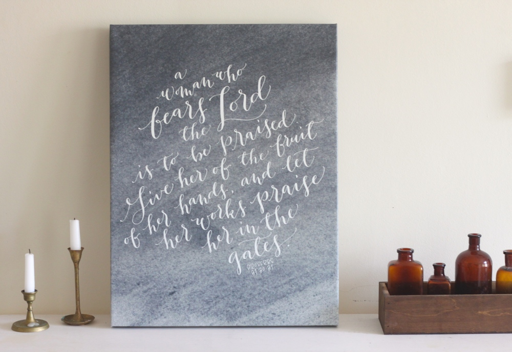 The Proverbs 31 print makes a wonderful birthday, Valentine's or Mother's Day gift for your special lady.